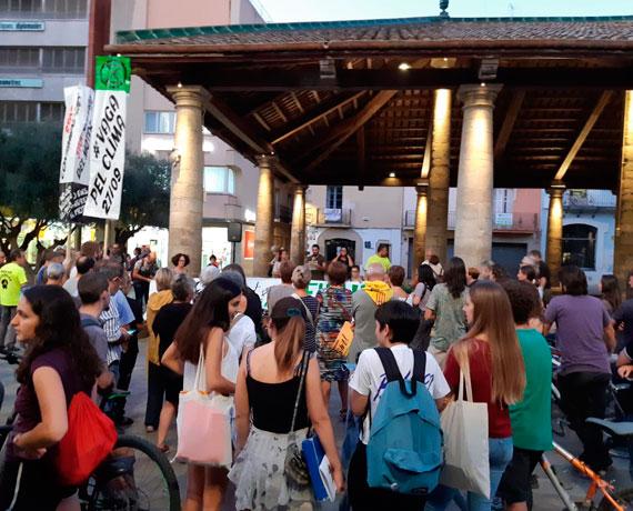 Manisfestació pel Clima a la Porxada